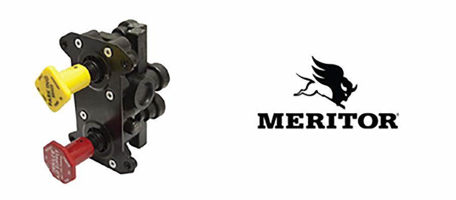 Meritor logo and valve