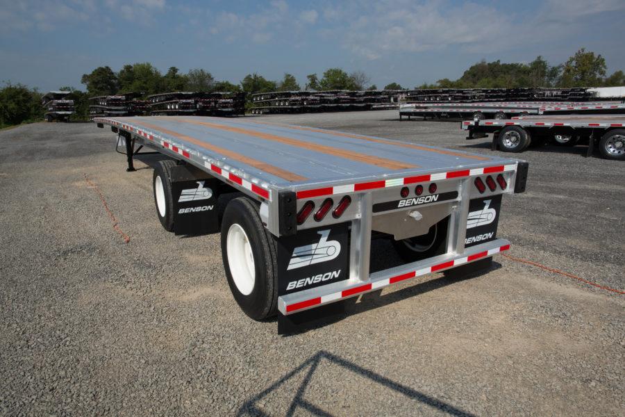 Benson flatbed aluminum trailer