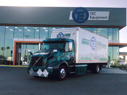 Volvo VNR Electric at TEC Equipment Fontana